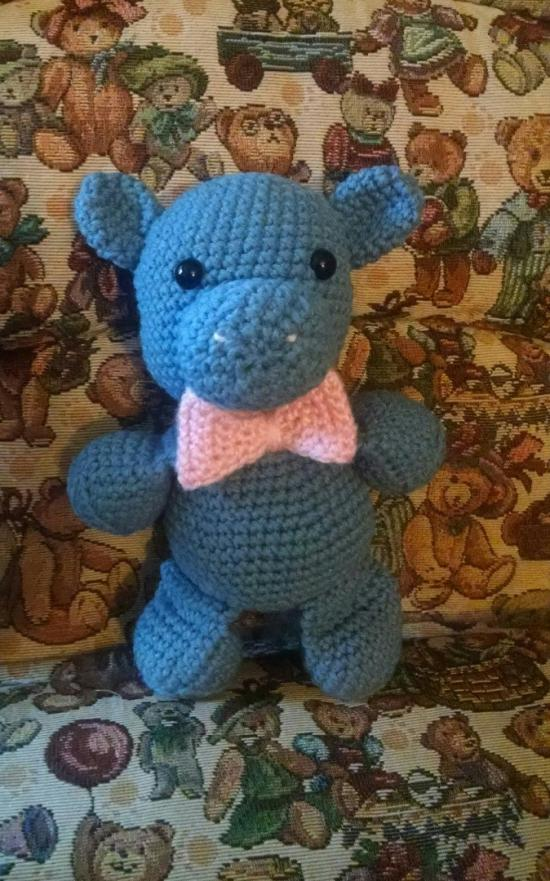 Hippo Crochet Doll