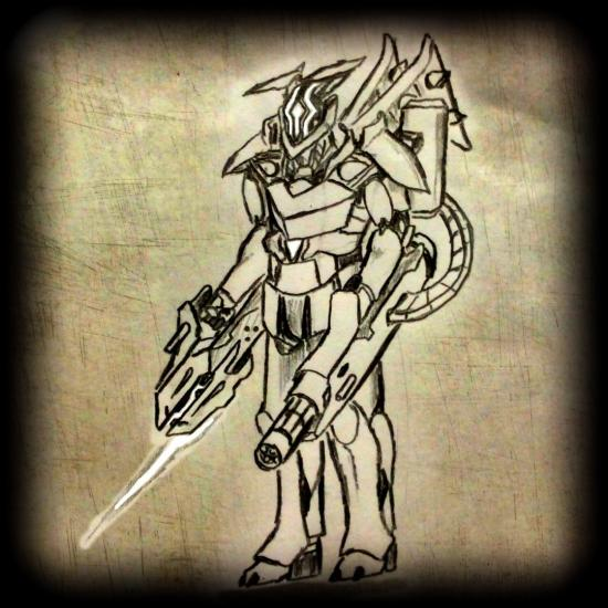Thresher Wraith (black and White)