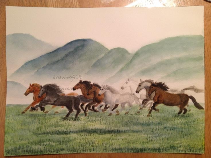 8 Galloping Horses