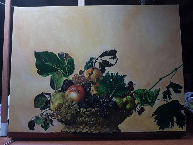 After Caravaggio - Basket of fruit - 2017 Version