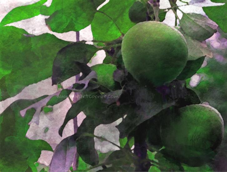 Green Apples & Leaves