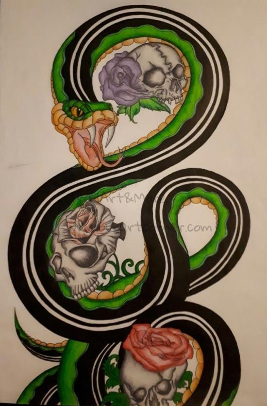 Skull Rose Snake (Final Part 3)