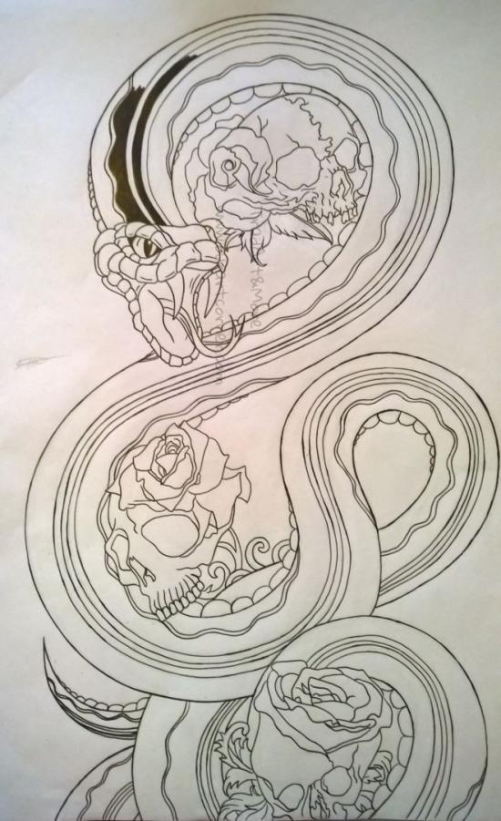 Skull Rose Snake (Inked Part 2)