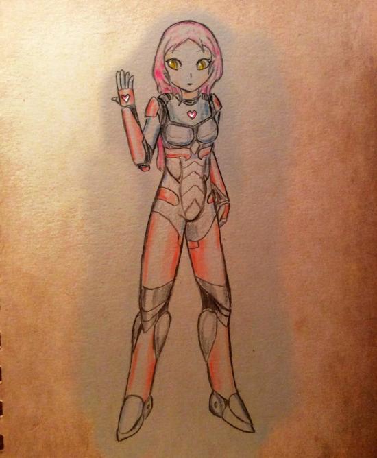 Robosuited girl