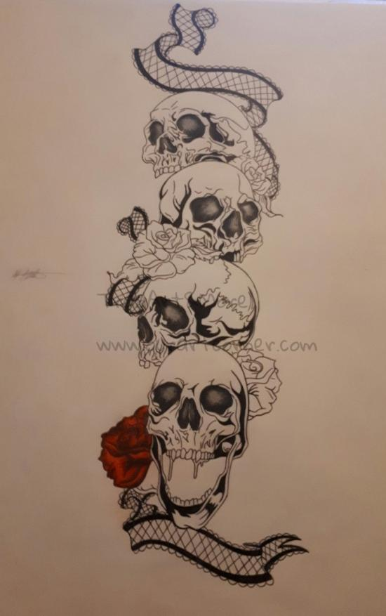 Skulls with Roses and Lace (Part 4)