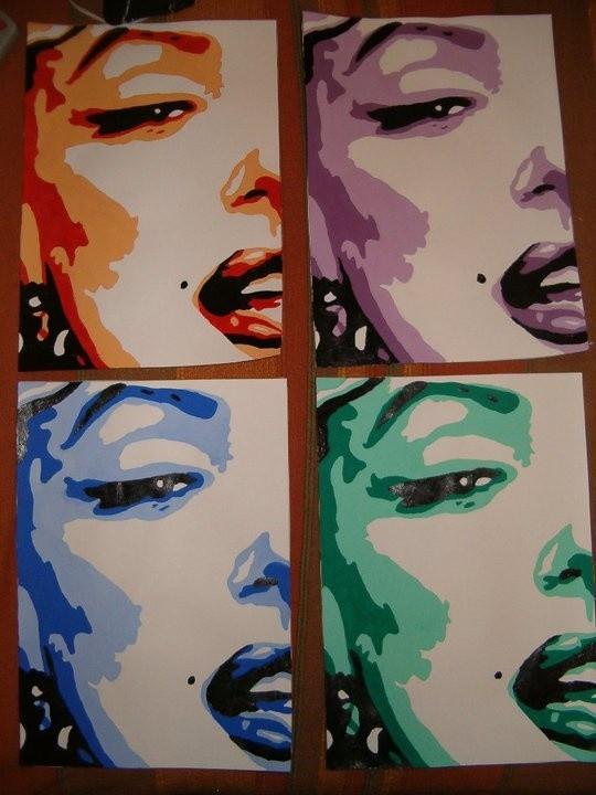 Marilyn Monroe Four Colors