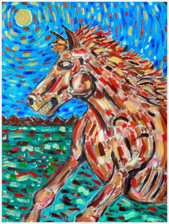 Wild Horse OnThe Great Plains