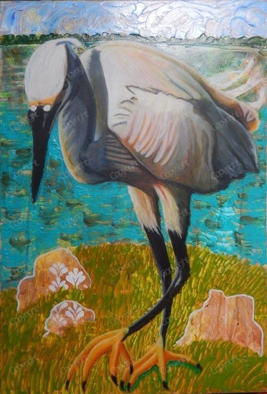 Egret ready to strike