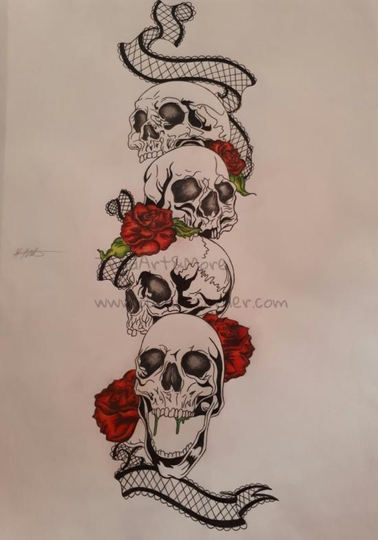 Skulls with Roses (Part 5)