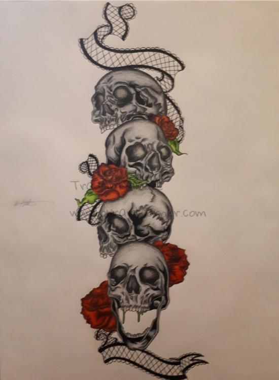Skulls with Roses (Part 6) Finished