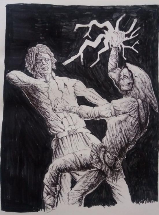 Magician attacking Abysmion