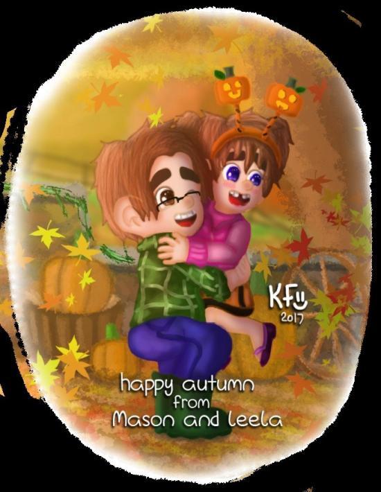 Happy Autumn From Mason And Leela
