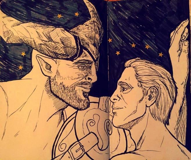 Inktober - Dragon Age Romance