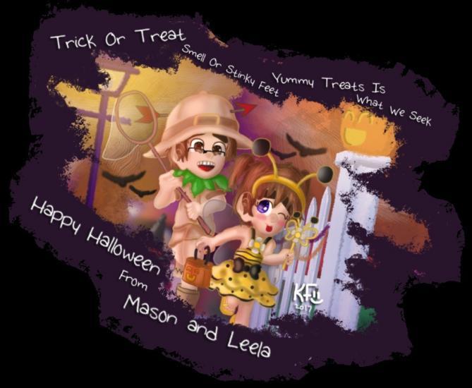 Happy Halloween From Mason and Leela 2017