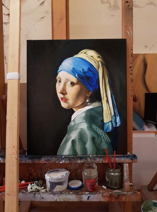 After Vermeer - The girl pearl earring