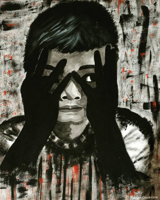 In a bloody home - ( Domestic violence)