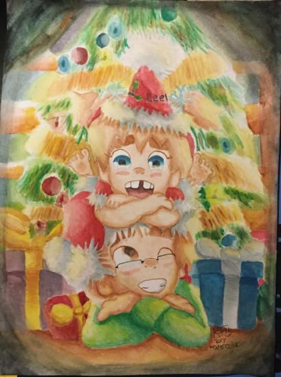 A holiday card from Mason and Leela