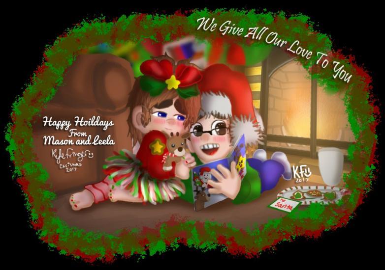 Happy Holiday From Mason and Leela