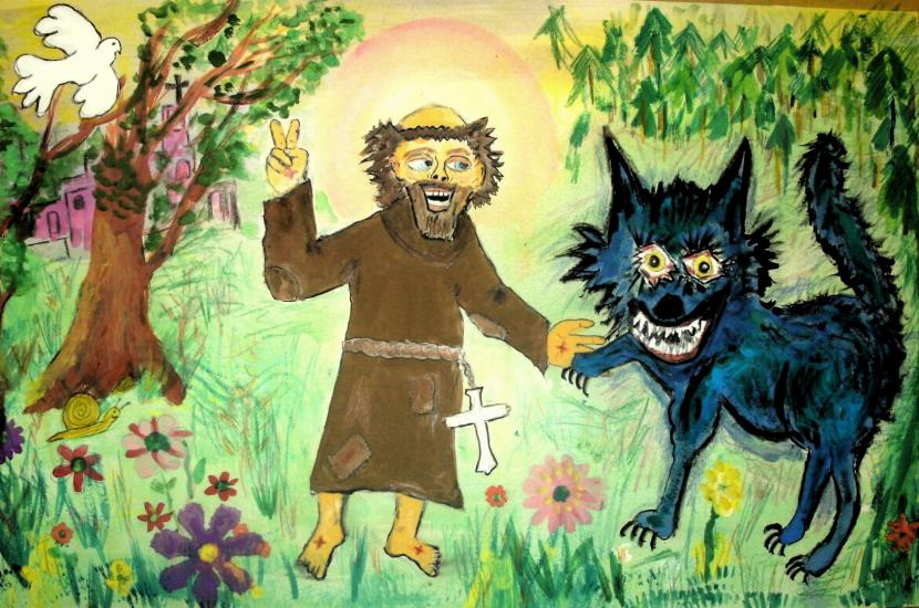 St Francis makes peace with the Wolf