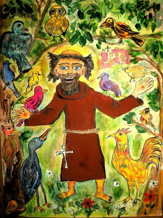 St Francis sermon to the birds