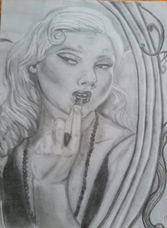 Pinup Drawing