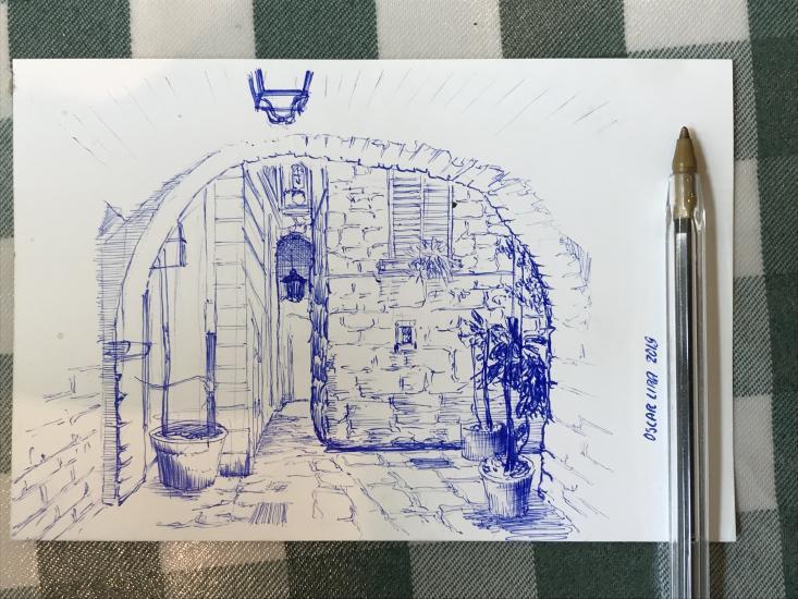 Quick landscape sketch