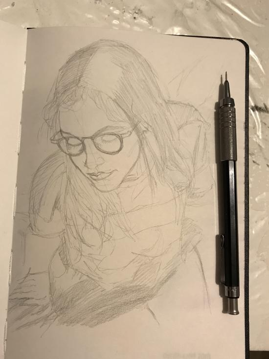 Perspective wip on Pencil
