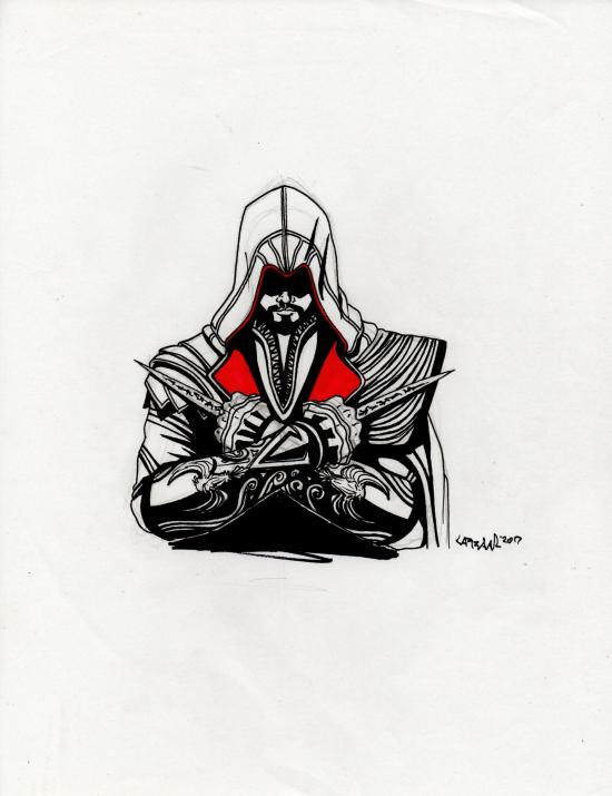 Ezio Auditore sketch from Assassin´s Creed Brother
