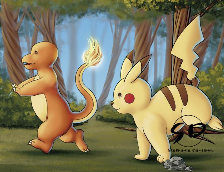 Pokemon Running Around