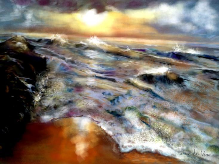 Sunset on Marina Beach