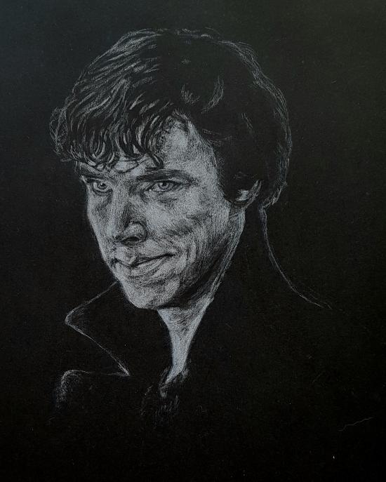 Sherlock  (white pencil)