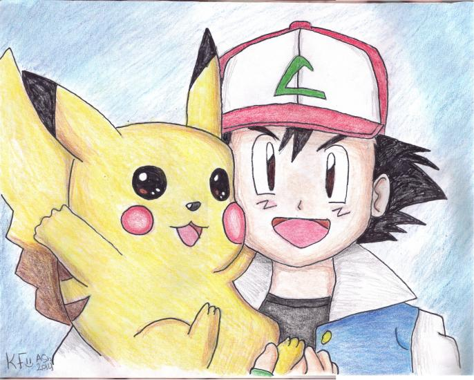 2014 Ash and Pikachu Colored Pencil