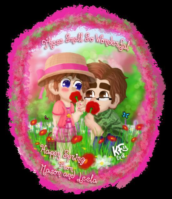 Happy Spring From Mason and Leela