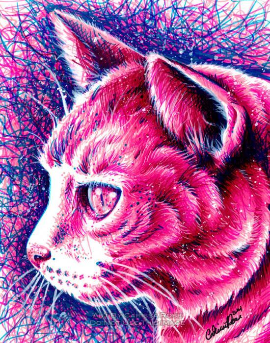 Sharpie Marker Kitty