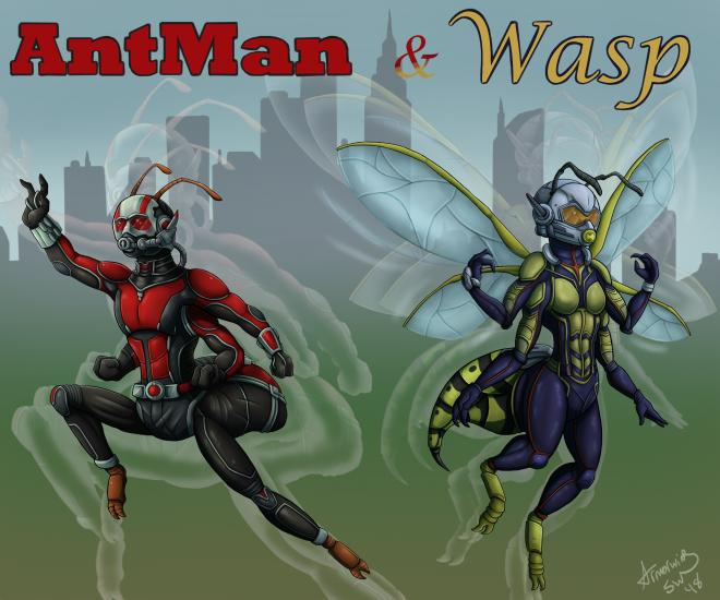 Feral Heroes Project: AntMan and Wasp