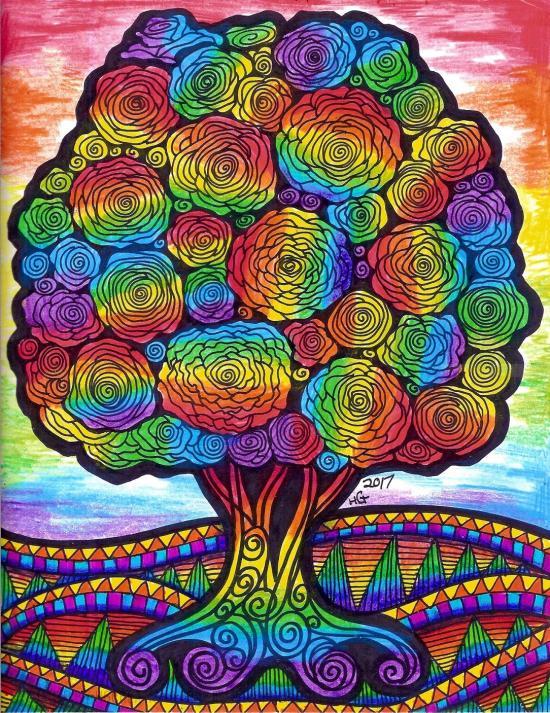 Rainbow Flower Tree