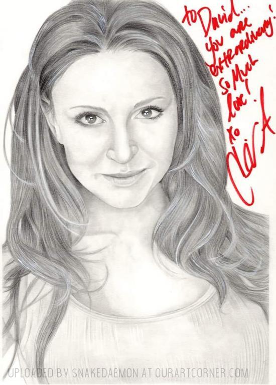 Cerina Vincent signed drawing