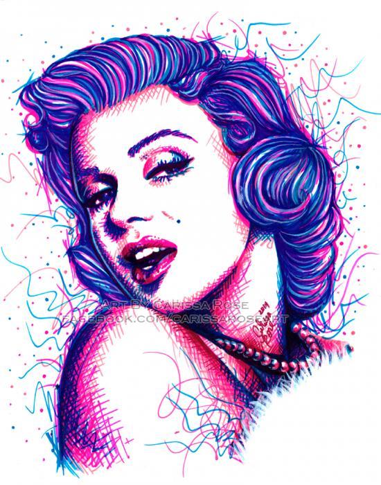 Long Live the Legend, Marilyn Monroe in Sharpie Ma