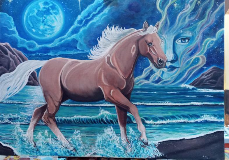 Painting proces Fantasy