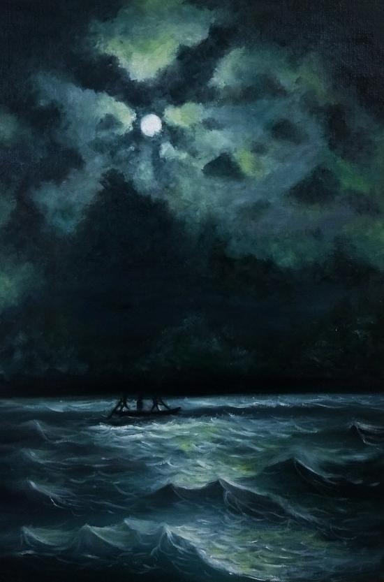 Cool Moonlight with ocean