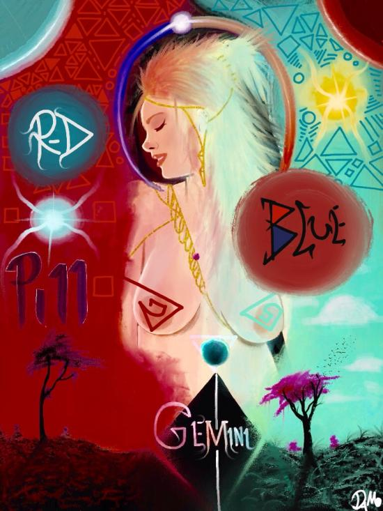 Red blue pill album cover