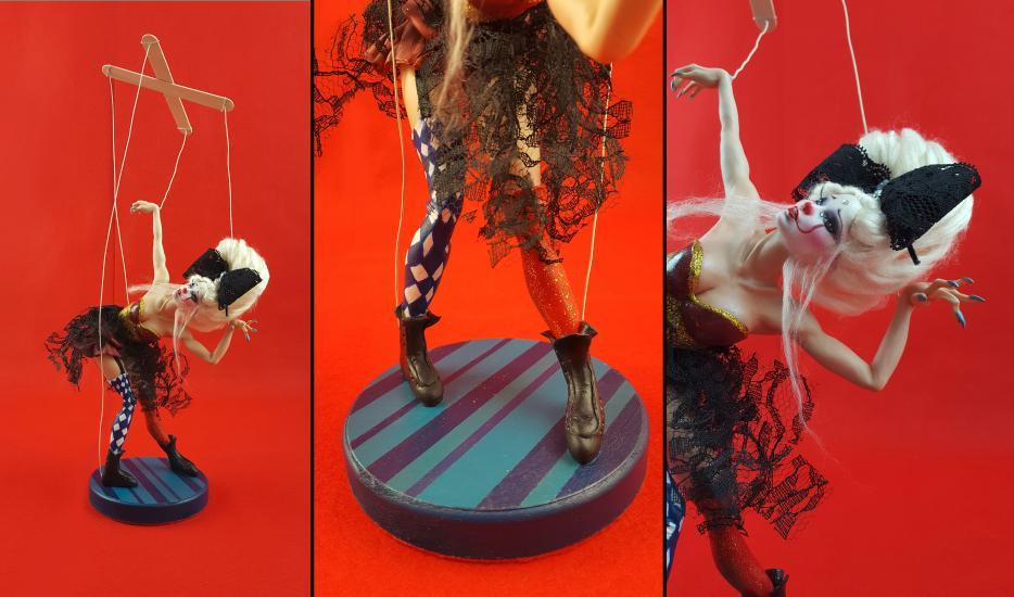 Papillon Ooak sculpture/statue/art doll
