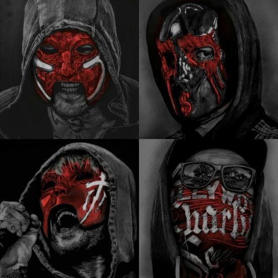 Hollywood Undead V (Red masks)