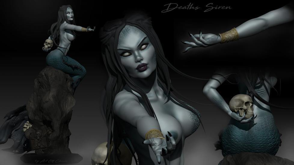 Deaths Siren 3D sculpture  concept art