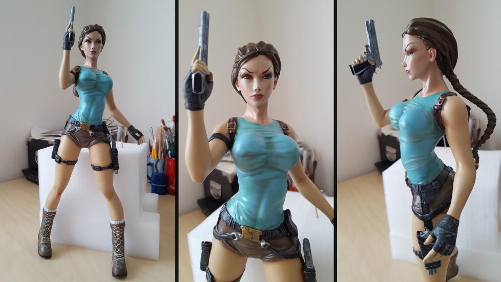 Lara Croft Tomb Raider resin statue wip..