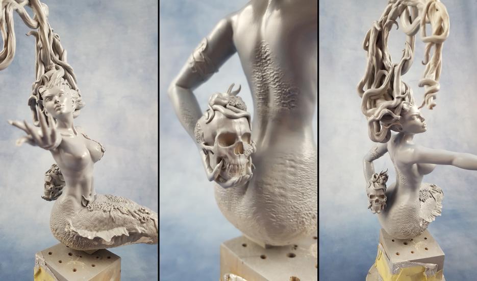 Deaths Siren resin statue wip..