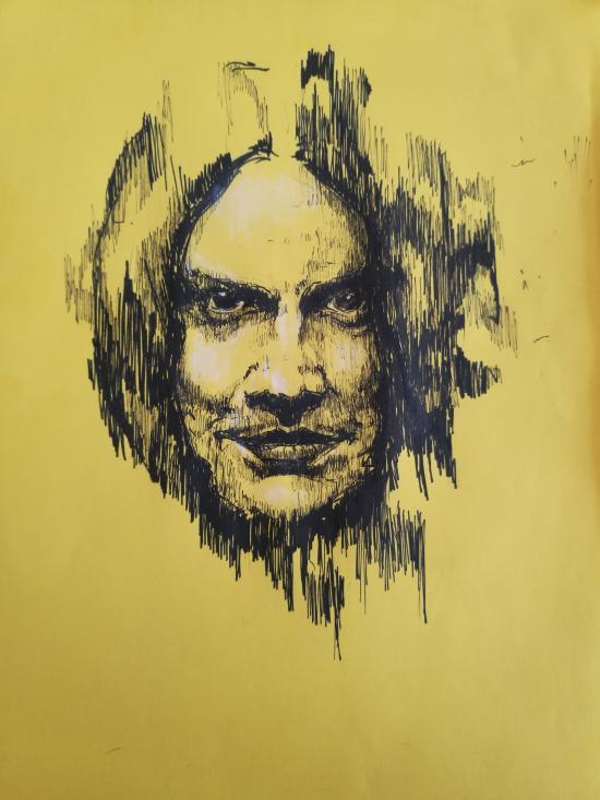 Jack white on yellow