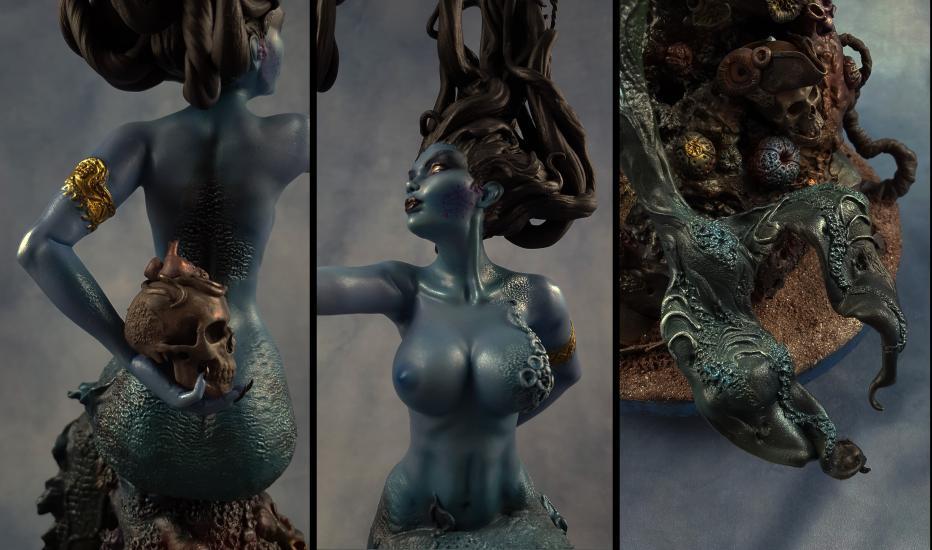 Death's Siren resin statue3