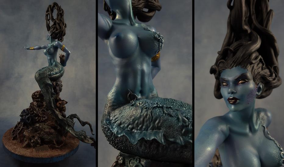 Death's Siren resin statue2