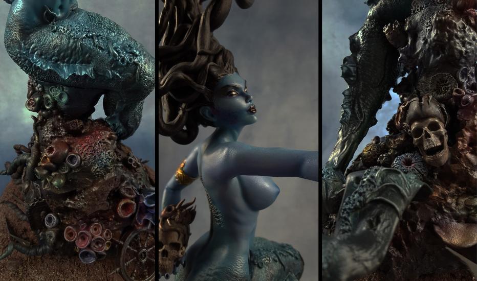 Death's Siren resin statue4